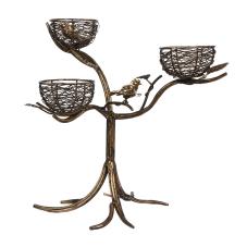 Rumi 3Lü Kuş Yuvalı Dekoratif Mumluk