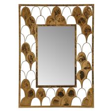 Gold Yaldızlı Duvar Aynası