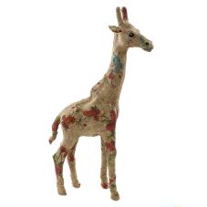 Brinda Keten Kaplama Çiçekli Zürafa Biblo Büyük Boy