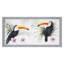 Pera Papağan Dekoratif Tablo