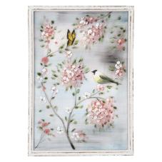 Pera Çiçek Dalında Kuşlar Dekoratif Tablo
