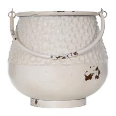 Sahara Beyaz Metal Kuşlu Vazo