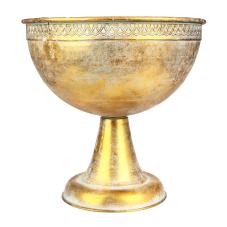 Margari Gold Metal Ayaklı Oval Vazo