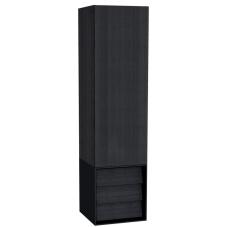 Frame Boy Dolabı 40 cm Çekmeceli Mat Siyah Sol