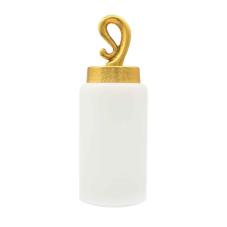 Vitale Nila Kapaklı Silindir Dekoratif Vazo Küçük Boy