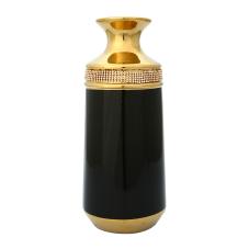 Andra Gold Taşlı Seramik Vazo Küçük Boy