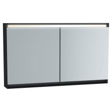 Frame Dolaplı Ayna 120 cm Mat Soft Siyah