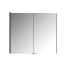 Premium Dolaplı Ayna 80 cm Parlak Antrasit