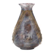 Mihir Zincirli Oval Vazo Büyük Boy