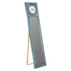 Cool Mavi Metal Aynalı Saat