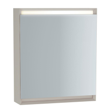 Frame Dolaplı Ayna 60 cm Mat Soft Bej Sağ