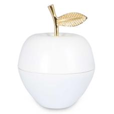 Beyaz Elma Kapaklı Dekoratif Obje Büyük Boy