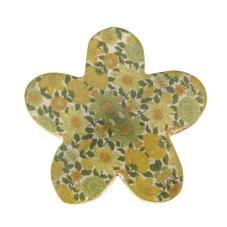 Şiva Çiçek Desenli Dekoratif Yeşil Papatya Küçük Boy