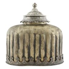 Kanta Antik Metal Kubbeli Vazo Büyük Boy