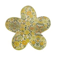 Şiva Çiçek Desenli Dekoratif Papatya Yeşil Büyük Boy