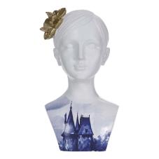 Lima Mavi Desenli Kadın Büst