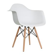 Aqua Kollu Beyaz Ahşap Ayaklı Sandalye