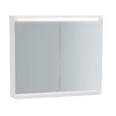 Frame Dolaplı Ayna 80 cm Mat Soft Beyaz