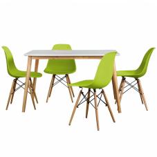 Aqua-S Yeşil Masa Sandalye Seti