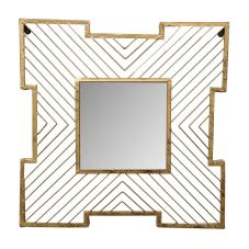 Raw Gold Telli Duvar Aynası