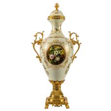 Klasik Krem Kupa Vazo