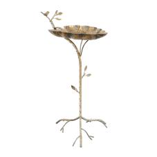 Leaf Gold Metal Sehpa