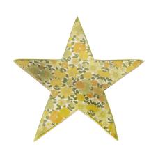 Şiva Çiçek Desenli Dekoratif Yıldız Yeşil Küçük Boy