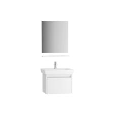 Step Demonte Set 65 cm Çekmeceli (Lavabo Dolabı Ayna Raf) Parlak Beyaz