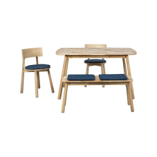 Seven Mavi Masa Sandalye Seti