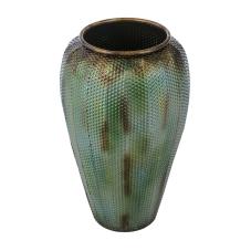Lux Yeşil Metal Küp Vazo Büyük Boy